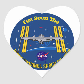 I Saw The ISS!! Heart Sticker