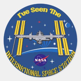 I Saw The ISS!! Round Sticker