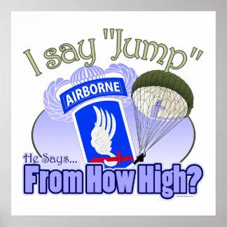 I Say Jump 173rd Airborne Print