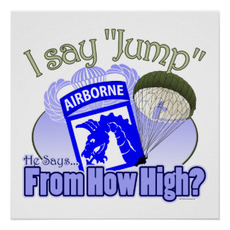 I Say Jump 18th Airborne Poster