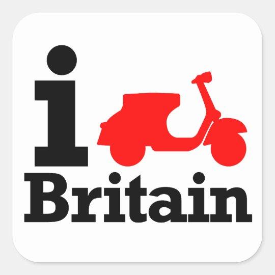 I Scooter Britain Square Sticker