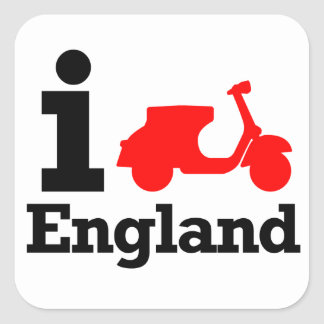 I Scooter England Square Sticker