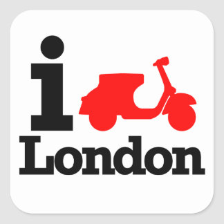 I Scooter London Square Sticker