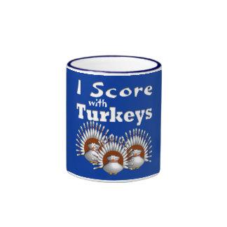 I Score with Turkeys Ringer Mug