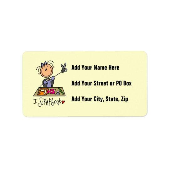 I Scrapbook Address Label