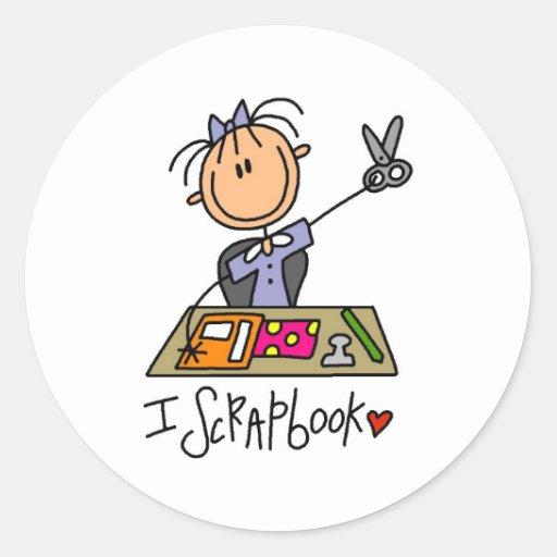 I Scrapbook Round Sticker