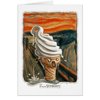 I Scream Ice cream Card