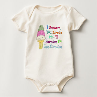 I Scream Ice Cream Infant Organic Creeper