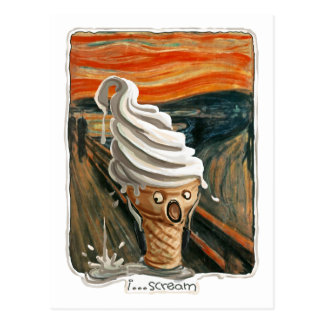 I Scream Ice cream Postcard