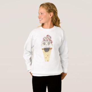 I Scream No Background Girl's Jumper Sweatshirt