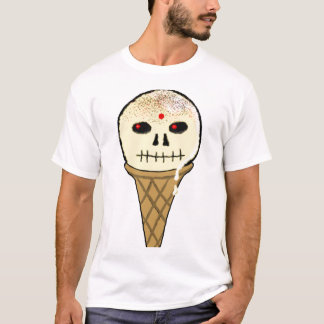 I Scream Skull Close Up T-Shirt