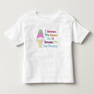 I Scream You Scream Ice Cream Toddler's T-Shirt
