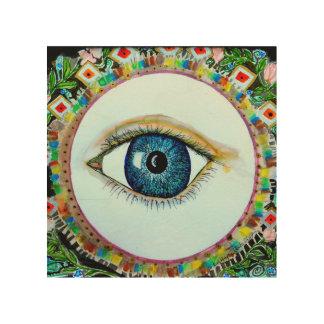 "I See - 8""x8"" Wood Wall Art Wood Print"