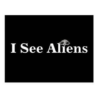 I See Aliens Postcard