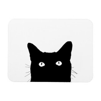 I See Cat Click to Select Your Color Background Rectangular Photo Magnet