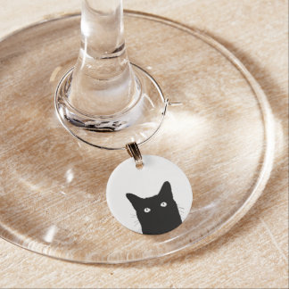 I See Cat Click to Select Your Color Decor Option Wine Glass Charms