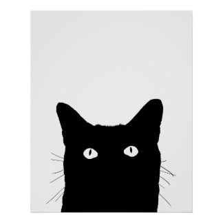 I See Cat Click to Select Your Color Decor Poster