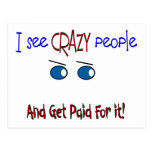 """""""I see crazy people"""" Postcards"""