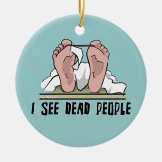 I See Dead People Round Ceramic Decoration