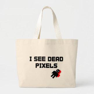 I See Dead Pixels Tote Bags