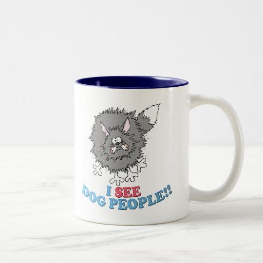 I SEE DOG PEOPLE! Two-Tone COFFEE MUG