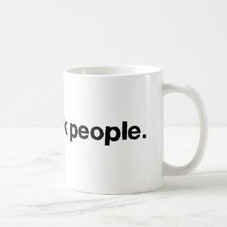 I See Drunk People Basic White Mug