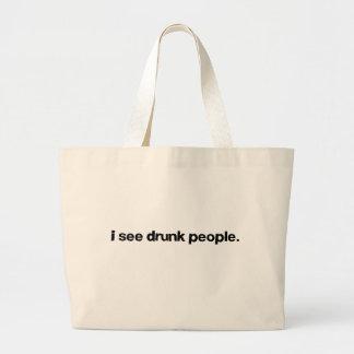 I See Drunk People Jumbo Tote Bag
