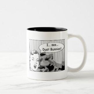 I See Dust Bunnies Two-Tone Coffee Mug