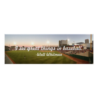 """I See Great Things In Baseball"" Poster"