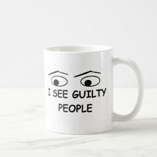 I see guilty people basic white mug
