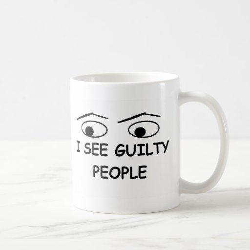 I see guilty people mug