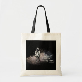 I see no god up here tote bag