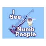 I See Numb People Postcard