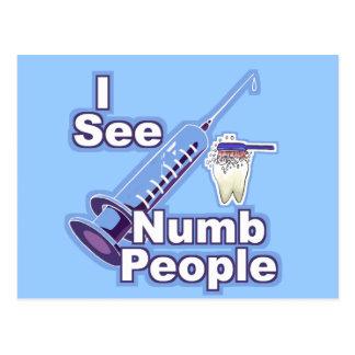 I See Numb People Postcard