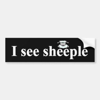 I see sheeple bumper sticker