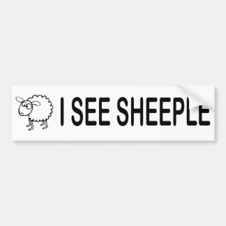 I See Sheeple Bumper Sticker