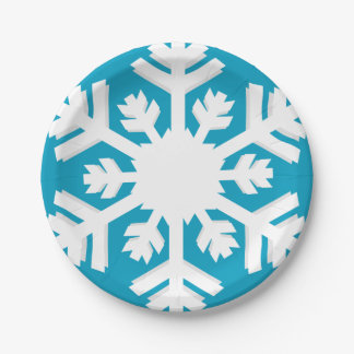 I see snowflake! paper plate