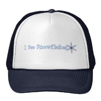 I See Snowflakes Hats