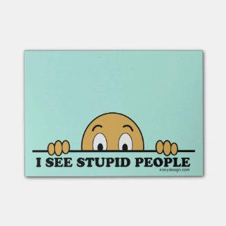 I See Stupid People Post-it Notes
