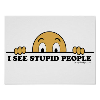 I See Stupid People Poster