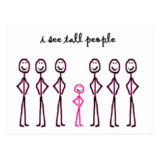 I See Tall People Postcard
