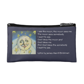 I See The Moon Small, Zippered Bag