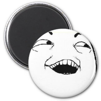 I See What You Did Comic Face 6 Cm Round Magnet
