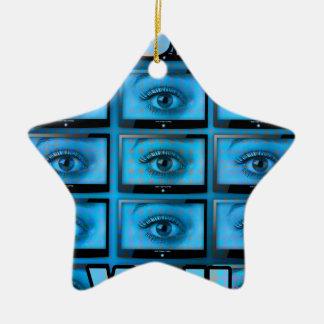 I See You Eye Ball Television Ceramic Star Decoration