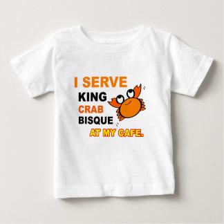 """I Serve King Crab Bisque at My Cafe"" Infant Tee"