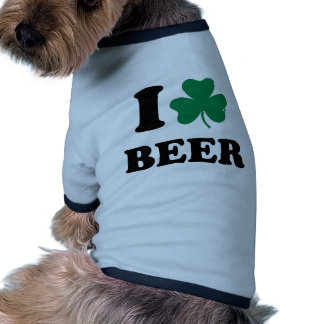 I Shamrock beer Dog T Shirt