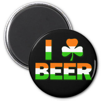 I Shamrock Beer Fridge Magnet
