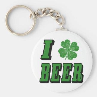 I Shamrock Beer Key Chains