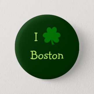I Shamrock Boston Button
