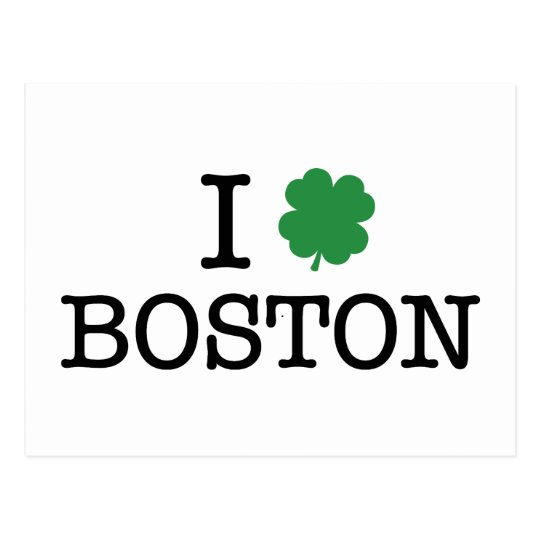 I Shamrock Boston Postcard